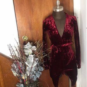 Dresses & Skirts - Brand New Red Velvet Textured Mini Dress